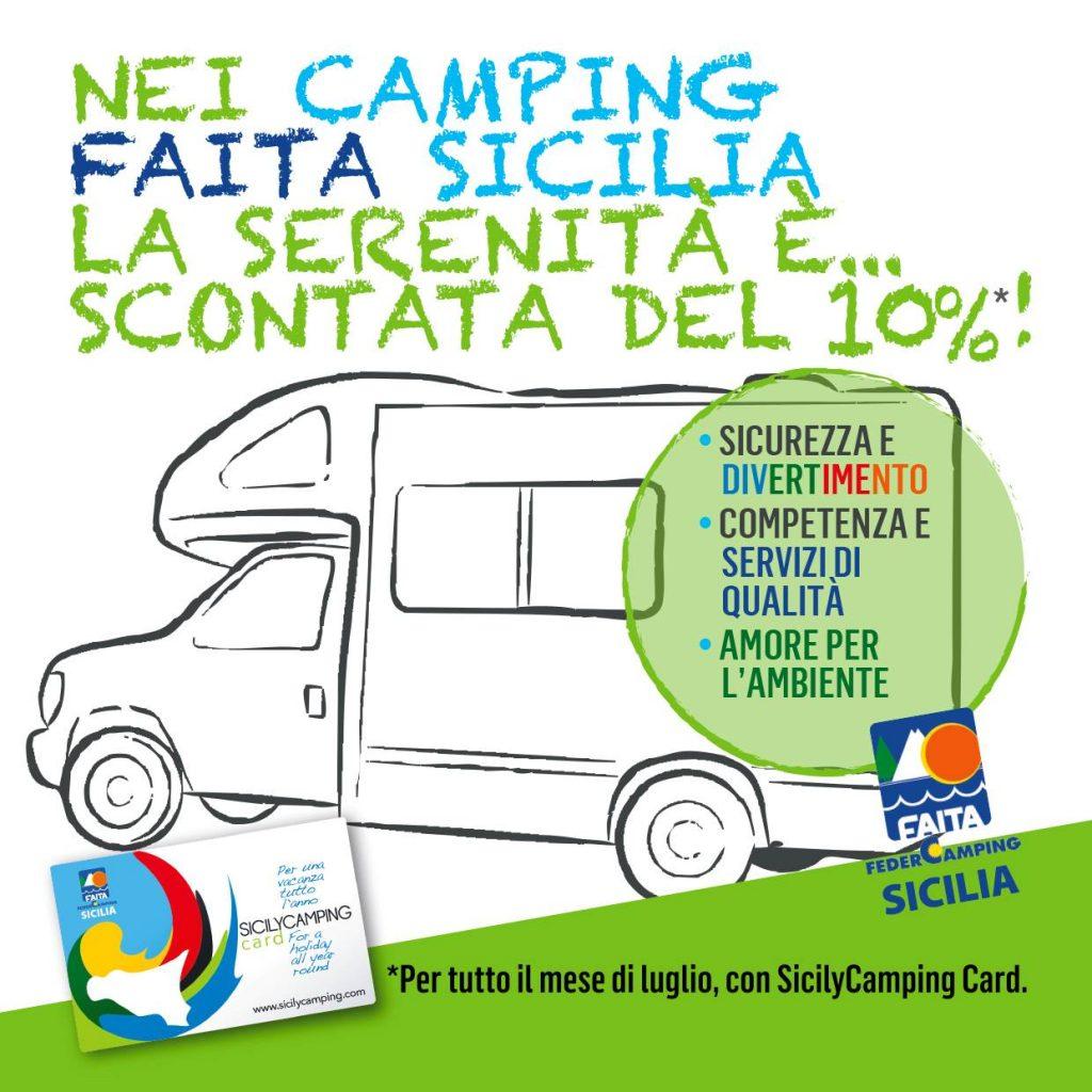 Siciliy Camping Card 10% luglio